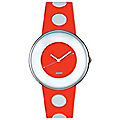Luna Red & White Watch by Alessi