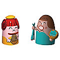 Pina Farina & Fiona Fish Set of 2 Figurines by Alessi