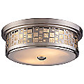 Tiffany Satin Nickel Flushmount by Landmark Lighting
