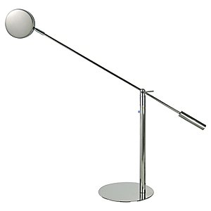 Slim Task Lamp with Puck Shade by Trend Lighting