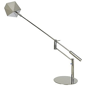 Slant Task Lamp with Pyramidion Shade by Trend Lighting