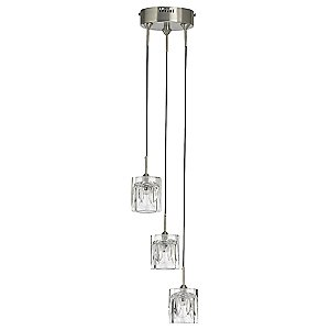 Mini Halo Ice Multi-Light Pendant by Quorum