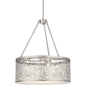 Brocade Drum Pendant by Forecast Lighting