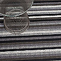 Even Stripe Shag Door Mat by Chilewich