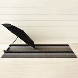 Bold Stripe Shag Door Mat by Chilewich