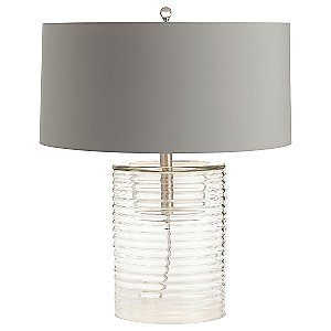 Rhett Clear Ribbed Glass Table Lamp by Arteriors