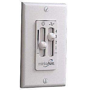 Wall Mount Wired Fan & Light Control WC106 by Minka Aire - OPEN BOX RETURN