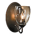 Simple Lines Single Wall Sconce with Water Glass by Hubbardton Forge - OPEN BOX RETURN