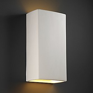 Rectangle Outdoor Wall Sconce by Justice Design