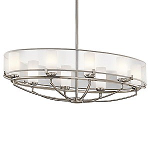 Saldana Oval Chandelier by Kichler