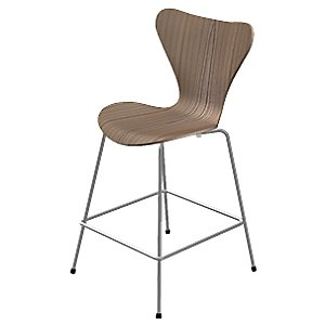 Series 7 Counter Stool - Natural Veneer by Fritz Hansen