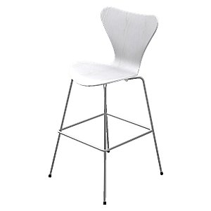 Series 7 Bar Stool - Lacquered by Fritz Hansen