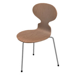 Ant 3 Leg Chair - Natural Veneer by Fritz Hansen