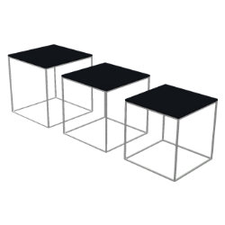 PK71 Set of 3 Nesting Tables by Fritz Hansen