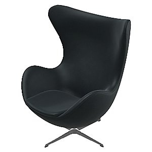 Egg Chair - Leather by Fritz Hansen
