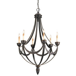 Palomino Chandelier by Currey and Company
