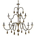 Bayside Chandelier by Currey and Company