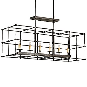 Fitzjames Rectangular Chandelier by Currey and Company