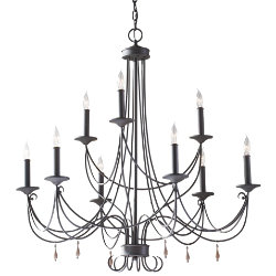 Aliya 2-Tier Chandelier by Murray Feiss