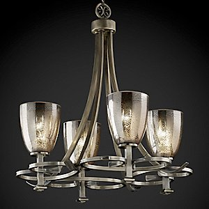 Fusion Mercury Glass Arcadia Chandelier by Justice Design