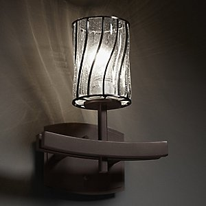 Wire Glass Archway Wall Sconce by Justice Design