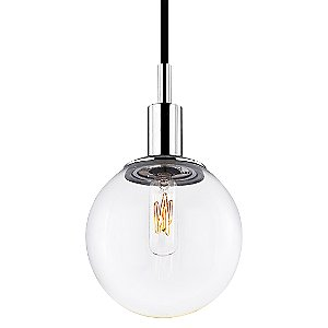 Orb Clear Pendant by Sonneman