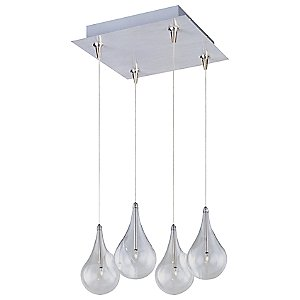 Larmes Square Multi-Light Pendant by ET2