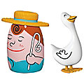 Giulietta and Loca Set of 2 Figurines by Alessi