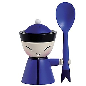 Mr. Chin Egg Cup (Blue) by Alessi - OPEN BOX RETURN