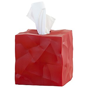 Crinkle Tissue Box Cover (Red) by Essey -OPEN BOX RETURN