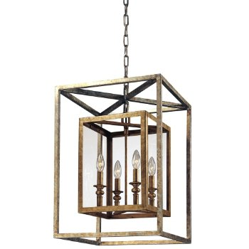 Morgan Suspension by Troy Lighting (Gold and Silver Leaf/Small) - OPEN BOX RETURN