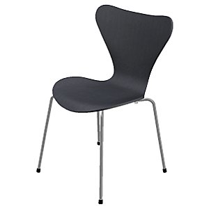 Series 7 Chair - Lacquered by Fritz Hansen (Black) - OPEN BOX RETURN