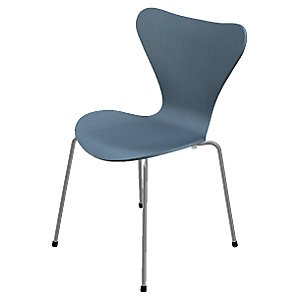 Series 7 Chair - Colored Ash by Fritz Hansen (Petrol Blue) - OPEN BOX
