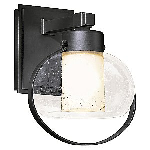Port Outdoor Wall Sconce with Seeded Glass by Hubbardton Forge