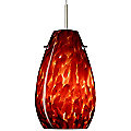 Pera 9 Pendant by Besa Lighting (Garnet/Nickel) - OPEN BOX RETURN
