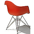 Eames Molded Plastic Armchair - Wire Base by Herman Miller