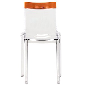 Hi Cut Chair by Kartell (Transparent/Orange) - OPEN BOX RETURN