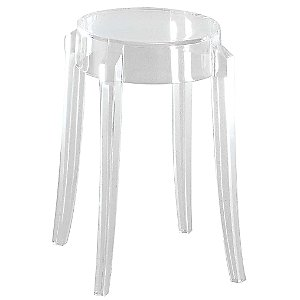 Charles Ghost Stool by Kartell (Crystal/Low) - OPEN BOX RETURN