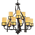 Kyle Two Tier Chandelier by Quoizel