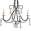Tula Crystal Chandelier by Currey and Company - OPEN BOX RETURN