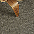 Bamboo Plynyl Floor Mat by Chilewich (35 in.x48 in./Charcoal) - OPEN BOX RETURN