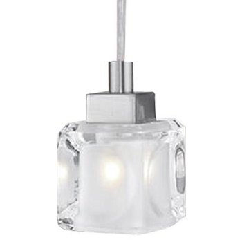 Tanga 1 Pendant (Frosted/Clear/Nickel) - OPEN BOX RETURN