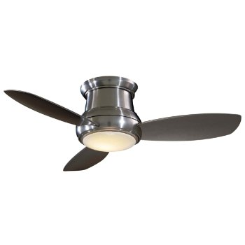 Concept II Flush 44 Fan w/Optional Light (Brushed Nickel with Silver) - OPEN BOX RETURN