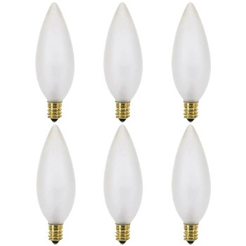 60W 120V B10 E12 Frosted Bulb (Pack of 6)