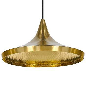 Beat Light Brass Pendant - Wide