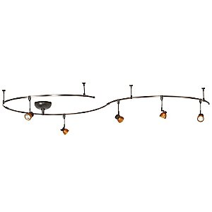 Amber Glass Shade Bronze Monorail Kit by WAC Lighting