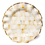 Parchment Check Fluted Dinner Plate