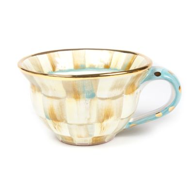 Parchment Check Teacup