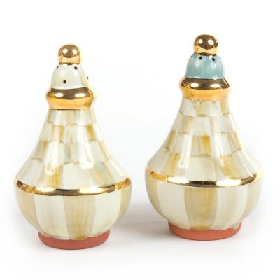 Parchment Check Salt & Pepper Shaker Set