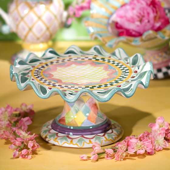 Mackenzie Childs Taylor Fluted Cake Stand Odd Fellows